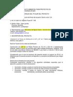 Declaración de Impacto Ambiental Para Proyectos De