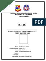 Muka Depan Folio PPGB