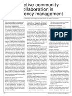 Effective Community Collaboration in Emergency Management