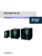 Lista de Parametros Variador Siemens Micromaster UV Yumbo
