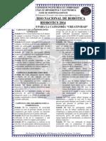 Reglamento Categoria Creatividad Riobotics 2014