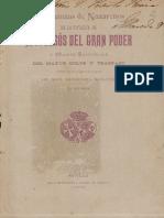 Ordenanzas Nazarenos Gran poder 1899