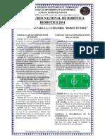 Reglamento Categoria Soccer Riobotics 2014