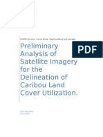 Preliminary Analysis of Satellite Imagery for the Delineation of Caribou Land Cover Utilization.