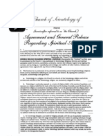 Church of Scientology Religious Services Contract