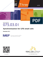 075 Synchronisation for LTE Small Cells