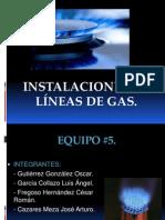 Inastalaci0n de Gas Dibujo Equipo 5