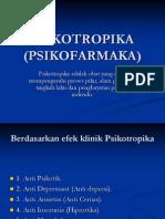 PSIKOTROPIKA (PSIKOFARMAKA)