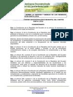 Ordenanza Norma Gestion Residuos Solidos 2012 Santalucia No Bookmarks