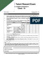 Class - x, Paper- II