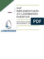 Erp Implementation at Landirenzo