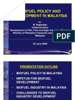 Biofuel Policy and Development in Malaysia