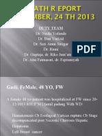 Death Report 24 December 2013