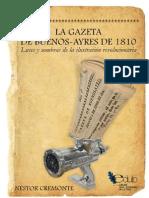 Cremonte, Néstor - La Gazeta de Buenos Ayres de 1810 - Luces y sombras de la ilustración revolucionaria