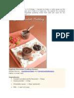 Eggless Chocolate Pudding