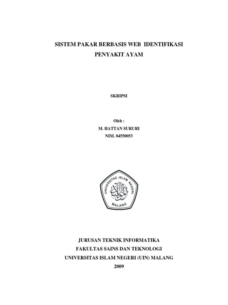 Contoh Proposal Skripsi Teknik Informatika Sistem Pakar Kumpulan Berbagai Skripsi