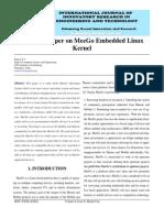IJIRET Ramya PV a Survey Paper on MeeGo Embedded Linux Kernel
