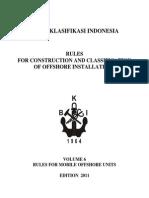 BKI RULES for Mobile Offshore Unit (Vol. VI)
