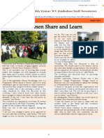 WVZimbabwe March 2014 Newsletter