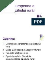 Carta Europeana a Spatiului Rural