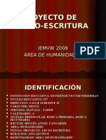PROYECTO LECTO ESCRITURA 2008