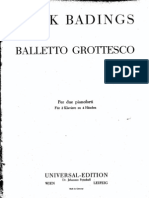Badings - Balletto Grottesco for Two Pianos