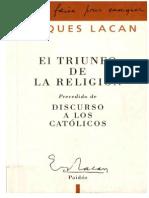 Lacan, Jacques - El Triunfo de La Religión - Ed. Paidós