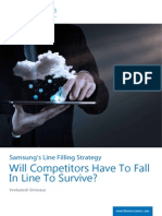 Samsung's Line Filling Strategy - Will competitors have to fall in line to survive? | Blueocean MI