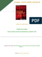 26525640 Lobaczewski Politicka Ponerologija Naucni Studij o Prirodi Zla