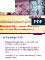 Misereor Development Paradigm