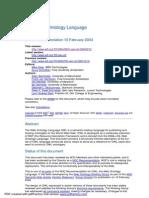 OWL Web Ontology Language R