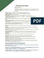 Edexcel Chemistry Unit 2 Revision Notes