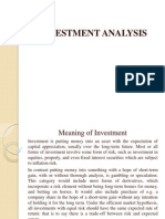 Investment PPT of Unit I