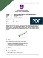 Lab Sheet 3 - Torsion Test-student
