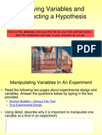 Identifying Variables and Constructing a Hypothesis