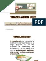Translation Unit, By Dr. Shadia Yousef Banjar