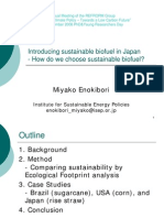 Introducing Sustainable Biofuel in Japan