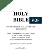 King James Bible 5'X7'