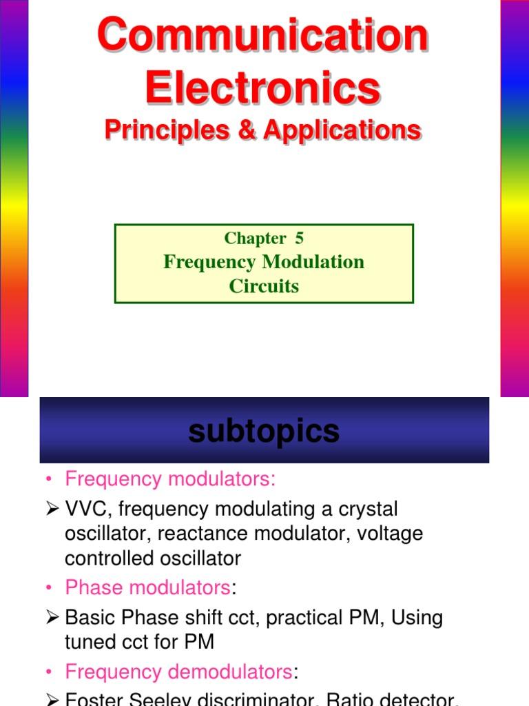 Chapter5 Fm Circuits Detector Radio Frequency Modulation Basic Oscillator Circuit