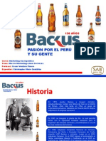Marketing Mix Backus