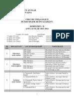 Cercuri Pedagogice II 2013 14