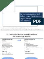 Lezione Pavia Massimizzazione Profitto Valore