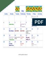 May Volunteer Calendar