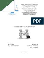 Trabajo Escrito Tema II. Redacción y Análisis de Contrato