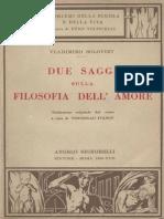 Due Saggi Sulla Filosofia Dell'Amore_Soloviev (1939)