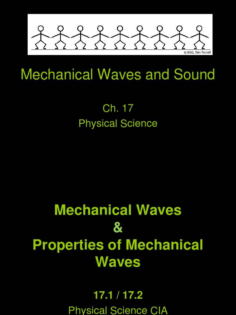 mechanical waves and sound powerpoint notes | Waves (495 views)