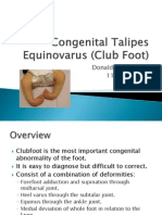 Congenital Talipes Equinovalrus (Club Foot)