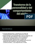 Transtorno de la personalidad en el Adulto