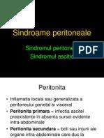 Sindroame peritoneale