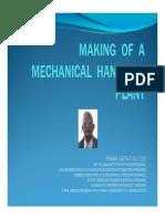 Making of a Mechanical Handling Plant